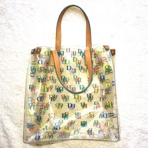 Dooney and Bourke Logo Clear Plastic Tote Bag
